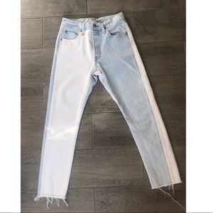 Levi's high waisted two toned cropped jeans (25)